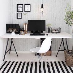 Office goals  #officeinspo #office #monochrome #blackandwhite #inspired #follow by lonwing