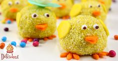Dolcetti di Pasqua a forma di pulcino