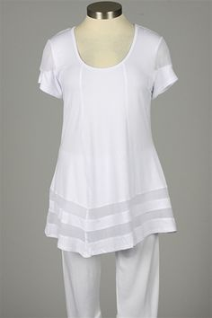Dolcezza - Banded Tunic - White