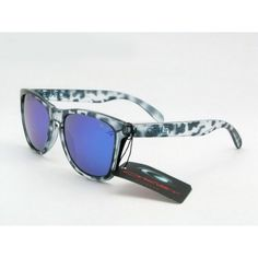 109fdc5cc9f Oakley Frogskins Sunglasses Black Leopard Frame Blue Lens Ray Ban Sunglasses