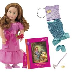 "Our Generation 18"" Deluxe Poseable Doll with Book: Evelyn and ""In The Limelight"""