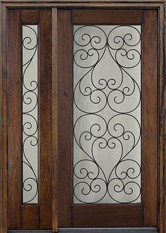 Madera maciza fuera de la puerta DJ-S9000WSO-Puerta-Identificación ...
