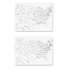 BESTSELLER Chenille Kraft White Board Die Cut US - Us map whiteboard