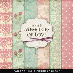 New Freebies Background Kit - Memories of Love