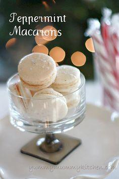 http://www.yummymummykitchen.com/2011/12/easy-peppermint-macarons-holiday-decor.html