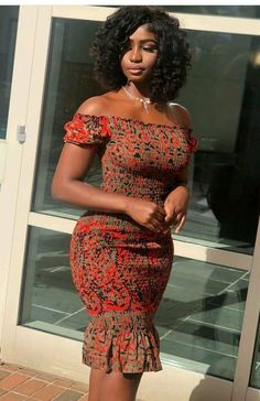 Smoked dress made with african wax  for all accassion and event African Shirt Dress, African Shirts, African Print Dresses, African Fashion Dresses, African Clothes, Ankara Fashion, Fashion Outfits, Tribal Fashion, Africa Fashion