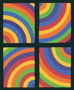 Sol Lewitt - Color Arcs in four Directions, 1999