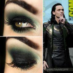 Tutorial – maquiagem com verde e preto inspirada no Loki!