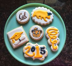 "Yellow UC BERKELEY, ""GO CAL!"" Mini Cookie Collection."