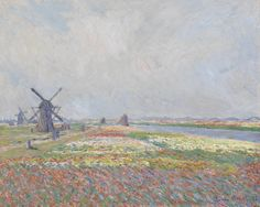 Vincent van Gogh. Tulip fields near the Hague. 1886.