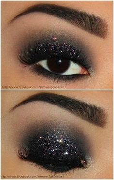 Love this look for New Year's although I would extend the shadow a bit more like a cat-eye. by Karen Barber