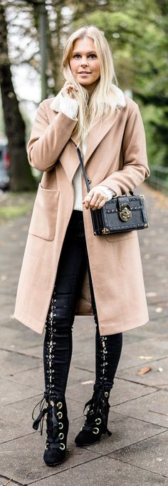 Camel Coat – Musthave im Herbst – Outfit – Sunnyin Spring Outfits, Winter Outfits, Mango Coats, Camel Coat Outfit, Strick Cardigan, Clothing Blogs, Outfits Damen, Mode Blog, Fall Sweaters