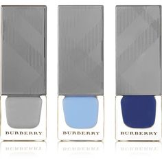 Burberry Beauty Nail Polish Set ($56) ❤ liked on Polyvore featuring beauty products, nail care, nail polish, burberry, shiny nail polish and burberry nail polish