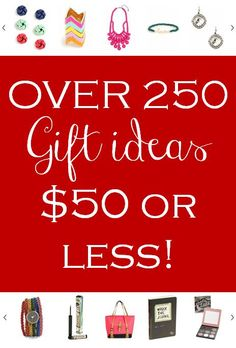 Still working on your holiday shopping? Don't worry there's still time! Plus there's still some amazing deals to be had! Over 250 Gift Ideas for 50.00 or less! Including a list of all the best sales and discounts going on this weekend! http://www.theperfectpalette.com/2012/12/over-250-gift-ideas-for-50-or-less-plus.html