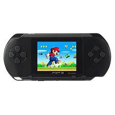 Huntmic 2.7 LCD Screen PXP3 Slim Handheld Video Game Console 16Bit Portable Game Players Built in 100 games (Black)