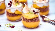 Porsjonskaker: Lime- og sitronpai med marengs Panna Cotta, Cheesecake, Lime, Pudding, Sweets, Baking, Ethnic Recipes, Desserts, Food
