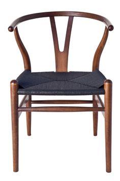 Milano Republic Furniture - Replica Hans Wegner Wishbone Chair - Walnut with black seat, $179.00 (http://www.milanorepublicfurniture.com.au/replica-hans-wegner-wishbone-chair-walnut-with-black-seat/)