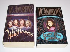 V.C. Andrews 2 PB Wildflowers Series Lot Misty Star Jade  Cat Into the Garden