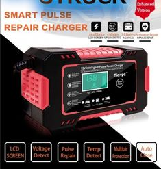 Automatic 12V Car Battery Pulse Repair Charger ❤️ Pin it please on your board Smart Pulse, Bike Tools, Wearable Technology, Lead Acid Battery, Wireless Headphones, Computer Accessories, Consumer Electronics, Charger, Car