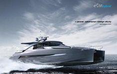 ECAT hybrid power catamaran concept by Juri Karinen Yacht Design, Boat Design, Explorer Yacht, Power Catamaran, Marine Engineering, Boat Projects, Float Your Boat, Floating House, Super Yachts