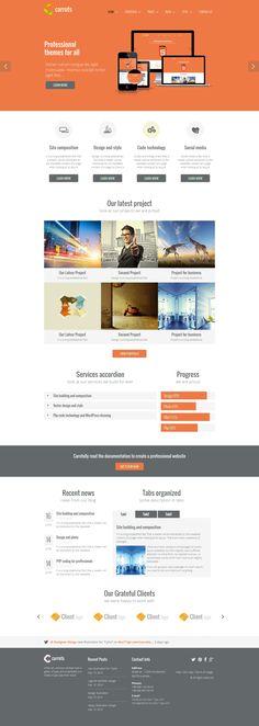 #webdesign: orange, clean