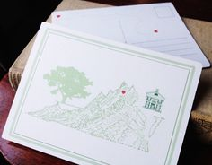 VIRGINIA MAP Postcard by turnofthecenturies on Etsy