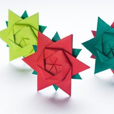 Learn how to make these sweet little origami stars! Design by Peter Keller