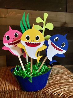 Excited to share this item from my #etsy shop: Baby Shark Themed Centerpiece
