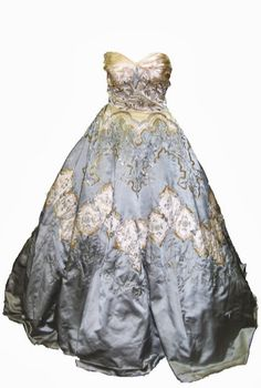 Pierre Balmain Ballgown - 1956 - Silk with metallic and synthetic hand embroidery - Worn by a guest to Grace Kelly's wedding to the Prince of Monaco