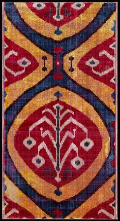 Ikat-dyed silk velvet panel | Museum of Fine Arts, Boston