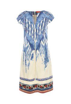 Rene Derhy Blue Enragee dress | Boutique Dresses Online | Rococo Fashion Boutique