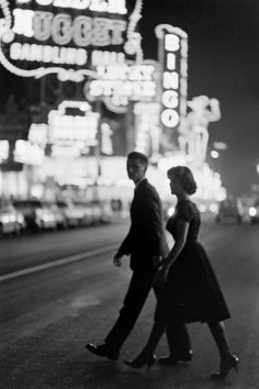 Fremont Street, Las Vegas, 1957. Photo by Grey Villet.