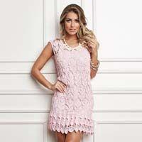 Vestido Crochê Rosa – Linha Cléa 5 – Blog do Bazar Horizonte – Maior Armarinho Virtual do Brasil