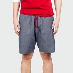 Charcoal Chambray - Jal - 510 Tailored Shorts, Chambray, Gym Men, Charcoal, Fashion, Moda, Fashion Styles, Fashion Illustrations