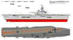 HMCS Bonaventure - Majestic class Aircraft Carrier