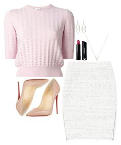 """Felicity Smoak Inspired Outfit"" by daniellakresovic ❤ liked on Polyvore featuring Bare Escentuals, Adina Reyter, Wilfred, Carven and Christian Louboutin"