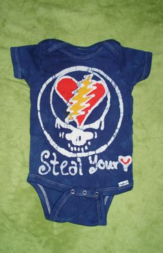 The Grateful Dead Steal Your Face Baby Onesie Batik by AppleJaxie, $18.00