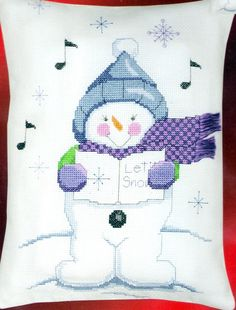 Counted Cross Stitch Kit designed by Sandra Garbrandt Singing Snowman