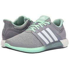 adidas Running Solar Boost (Core Heather/White/Grey) Women's Shoes (310 BRL) ❤ liked on Polyvore featuring shoes, athletic shoes, sneakers, adidas, gray shoes, woven shoes, lace up shoes, adidas shoes and breathable running shoes