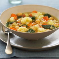 Curried Cauliflower Soup So easy to make vegetarian, replace chicken stock with vegetable stock.