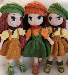 PATRON GRATIS MUÑECA AMIGURUMI 38196 Crochet Bunny Pattern, Crochet Amigurumi Free Patterns, Easy Crochet Patterns, Doll Patterns, Crochet Toys, Free Crochet, Stitch Head, Amigurumi Doll, Crochet For Kids