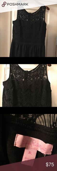 Lilly Pulitzer Navy Crochet Top Dress, Size XL Lilly Pulitzer Navy Crochet Top Dress, Size XL Lilly Pulitzer Dresses Midi