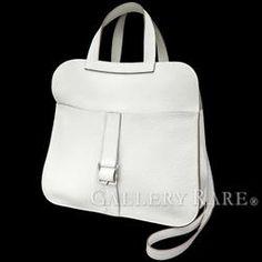 エルメス ハンドバッグ アルザン ホワイト×シルバー金具 トリヨンクレマンス R刻印 HERMES バッグ 3wayバッグ ショルダーバッグ 白