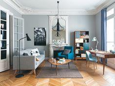 Une accumulation de meubles aux pieds compas pour un style vintage