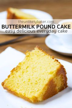 Old fashioned buttermilk pound cake is a classic for a reason — moist, delicious, simple to make, so buttery! Plus it's a great way to use extra buttermilk. Homemade Birthday Cakes, Homemade Desserts, Best Dessert Recipes, Brunch Recipes, Easy Desserts, Delicious Desserts, Snack Recipes, Yummy Food, Baking Recipes