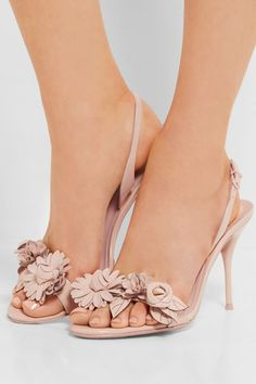 Heel measures approximately 90mm/ 3.5 inches Beige patent-leather Buckle-fastening slingback strap Small to size. See Size & Fit notes.