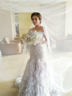 bride carla in jazel sy gown. www.jazelsy.com for inquiries: jazelsysec@gmail.com