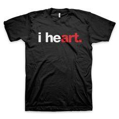 """""""i heart art"""" T-Shirt"""
