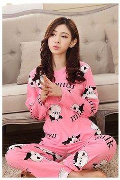Foply Pajamas 2018 Spring Women Ladies Sexy Satin Pajamas Sets Long Sleeve  Tops+Pants Sleepwear Mujer Nightwear Pyjama Femme dd6e281ec