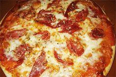 Pizza de Jamón Serrano y Queso Manchego – Buenapetito!